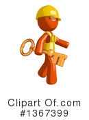 Royalty-Free (RF) Orange Construction Worker Clipart Illustration #1367399