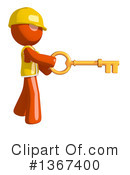 Royalty-Free (RF) Orange Construction Worker Clipart Illustration #1367400