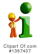 Royalty-Free (RF) Orange Construction Worker Clipart Illustration #1367407