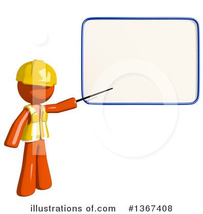 Orange Construction Worker Clipart #1367408 by Leo Blanchette