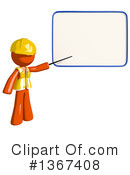 Royalty-Free (RF) Orange Construction Worker Clipart Illustration #1367408