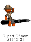 Orange Design Mascot Clipart #1542131 by Leo Blanchette