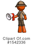 Orange Design Mascot Clipart #1542336 by Leo Blanchette