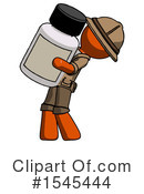 Orange Design Mascot Clipart #1545444 by Leo Blanchette