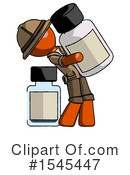 Orange Design Mascot Clipart #1545447 by Leo Blanchette