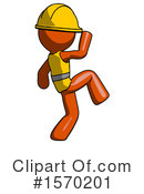 Orange Design Mascot Clipart #1570201 by Leo Blanchette