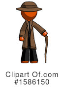 Orange Design Mascot Clipart #1586150 by Leo Blanchette