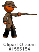 Orange Design Mascot Clipart #1586154 by Leo Blanchette