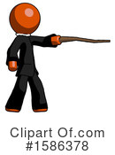 Orange Design Mascot Clipart #1586378 by Leo Blanchette