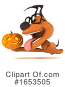 Orange Dog Clipart #1653505 by Julos