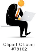 Orange Faceless Businessman Clipart #78102 by Qiun