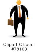 Orange Faceless Businessman Clipart #78103 by Qiun