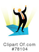 Royalty-Free (RF) Orange Faceless Businessman Clipart Illustration #78104