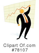 Orange Faceless Businessman Clipart #78107 by Qiun