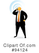 Orange Faceless Businessman Clipart #94124 by Qiun