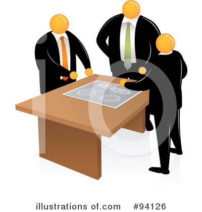Orange Faceless Businessman Clipart #94126 by Qiun