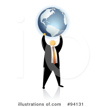 Orange Faceless Businessman Clipart #94131 by Qiun
