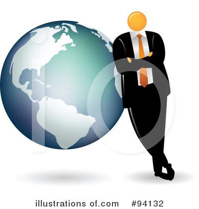 Orange Faceless Businessman Clipart #94132 by Qiun
