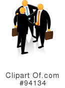 Orange Faceless Businessman Clipart #94134 by Qiun