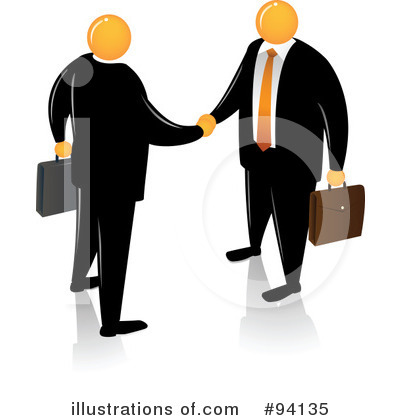Royalty-Free (RF) Orange Faceless Businessman Clipart Illustration by Qiun - Stock Sample #94135