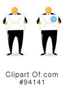 Orange Faceless Businessman Clipart #94141 by Qiun