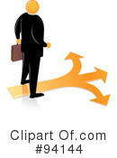 Orange Faceless Businessman Clipart #94144 by Qiun