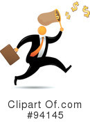 Orange Faceless Businessman Clipart #94145 by Qiun