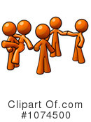 Orange Man Clipart #1074500 by Leo Blanchette