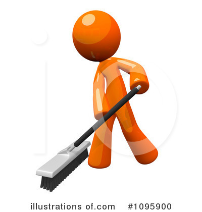 Sweeping Clipart #1095900 by Leo Blanchette