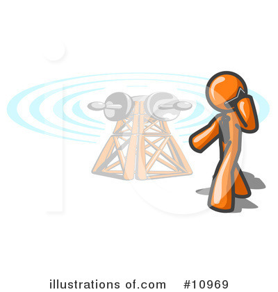 Communications Tower Clipart #10969 by Leo Blanchette