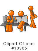 Royalty-Free (RF) orange man Clipart Illustration #10985