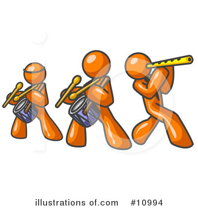 Music Band Clipart #10994 by Leo Blanchette