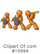 Royalty-Free (RF) orange man Clipart Illustration #10994