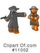 Orange Man Clipart #11002 by Leo Blanchette