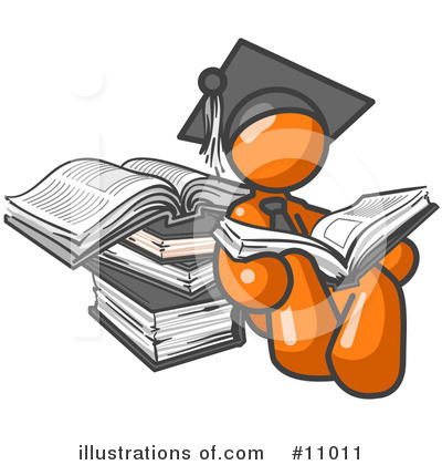 Royalty-Free (RF) Orange Man Clipart Illustration by Leo Blanchette - Stock Sample #11011
