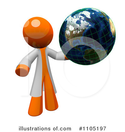 Globe Clipart #1105197 by Leo Blanchette
