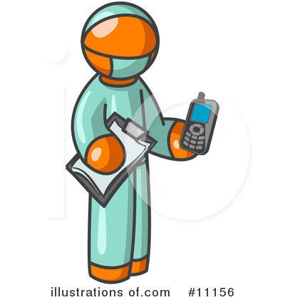 Royalty-Free (RF) Orange Man Clipart Illustration by Leo Blanchette - Stock Sample #11156
