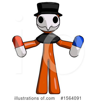 Royalty-Free (RF) Orange Man Clipart Illustration by Leo Blanchette - Stock Sample #1564091