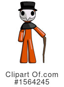 Orange Man Clipart #1564245 by Leo Blanchette