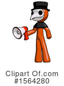 Orange Man Clipart #1564280 by Leo Blanchette
