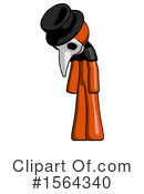 Orange Man Clipart #1564340 by Leo Blanchette
