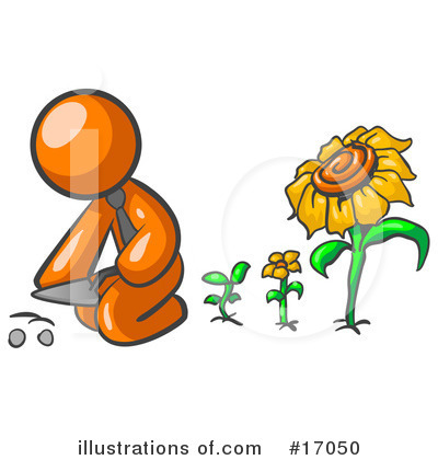 Daisy Clipart #17050 by Leo Blanchette