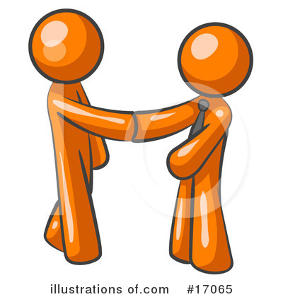 Royalty-Free (RF) Orange Man Clipart Illustration by Leo Blanchette - Stock Sample #17065