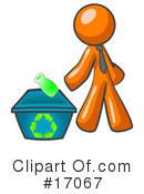 Royalty-Free (RF) Orange Man Clipart Illustration #17067