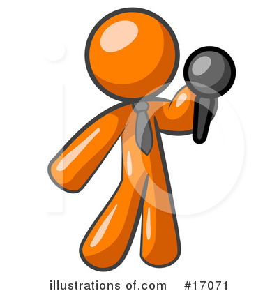Comedian Clipart #17071 by Leo Blanchette