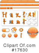 Orange Man Clipart #17630 by Leo Blanchette