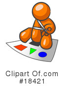 Orange Man Clipart #18421 by Leo Blanchette