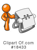 Orange Man Clipart #18433 by Leo Blanchette