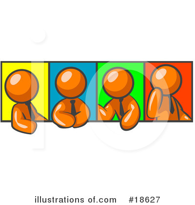 Colleagues Clipart #18627 by Leo Blanchette