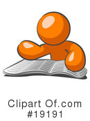 Royalty-Free (RF) Orange Man Clipart Illustration #19191